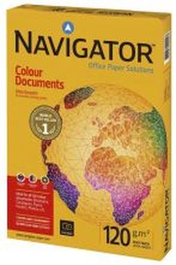Kopierpapier Navigator Colour Documents - A4, 120 g/qm, weiß, 250 Blatt