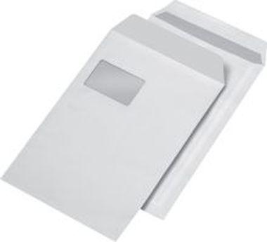 Versandtaschen C4 mit Fenster selbstklebend weiß, 250 Stück