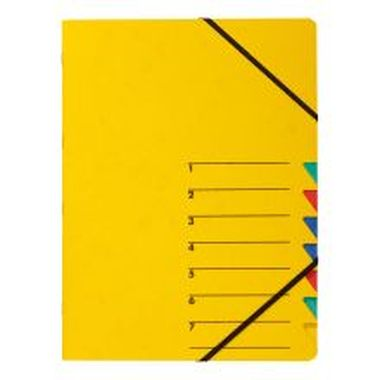 Ordnungsmappen EASY mit 7 Fächern gelb