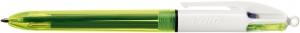 Vierfarbkugelschreiber 4 Colours Fluo - 3-Farb-Kugelschreiber +  Neongelb
