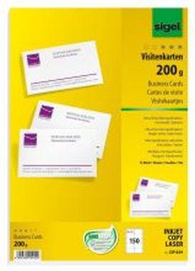 Sigel® PC-Visitenkarten, weiß DP839