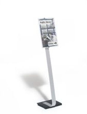 Bodenständer CRYSTAL SIGN Tafelgröße für A3 118 - 125 cm