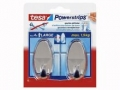 Powerstrips® Haken Large, oval chrom
