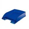 Briefkorb Plus dunkelblau transparent