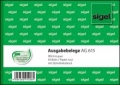 Ausgabebeleg mit MwSt.-Nachweis und Sicherheitsdruck A6 quer