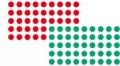 Moderations-Klebepunkte grün und rot Ø 1,9 cm