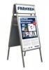 Alu-Kundenstopper  A1 (inkl. Schnellwechselrahmen 2 x A4 quer)