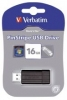 USB Stick 2.0 PinStripe - 16 GB, schwarz