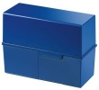 Karteiboxen für A5 quer, Größe: 228x102x171 mm blau