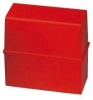 Karteiboxen für A5 quer, Größe: 228x102x171 mm rot