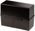 Karteiboxen für A5 quer, Größe: 228x102x171 mm schwarz
