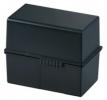Karteiboxen für A6 quer, Größe: 165x96x128 mm schwarz