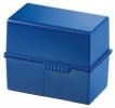 Karteiboxen für ca. 300 Karten A7 quer, Größe: 121x74x101 mm blau