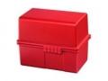 Karteiboxen für ca. 300 Karten A8 quer, Größe: 89x58x71 mm rot