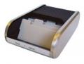 Schreibtisch-Sets Silver Visitenkartenbox für 300 Karten 90x55 mm 136x240x67 mm
