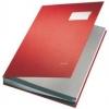 Unterschriftsmappen PP-kaschiert, mit 20 Fächern rot