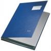 Unterschriftsmappen PP-kaschiert, mit 10 Fächern blau