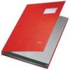 Unterschriftsmappen PP-kaschiert, mit 10 Fächern rot