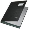 Unterschriftsmappen PP-kaschiert, mit 10 Fächern schwarz
