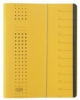 Ordnungsmappen chic mit 12 Fächern gelb