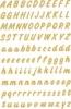 4152 Buchstaben 8 mm A-Z wetterfest Folie transparent gold 2 Blatt