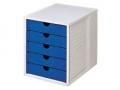 Systembox lichtgrau/blau