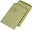 Versandtaschen C4 mit Fenster selbstklebend 90 g/qm, braun