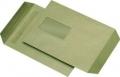 Versandtaschen C5 mit Fenster selbstklebend 90 g/qm, braun