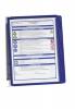 Sichttafelsystem VARIO® WALL 5 - Wandset, 5 Sichttafeln A4, dunkelblau