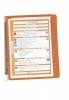 Sichttafelsystem VARIO® WALL 5 - Wandset, 5 Sichttafeln A4, orange