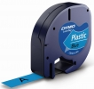 Schriftbandkassetten Kunststoff laminiert - 12 mm x 4 m, schwarz auf blau