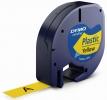 Schriftbandkassetten Kunststoff laminiert - 12 mm x 4 m, schwarz auf gelb