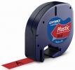 Schriftbandkassetten Kunststoff laminiert - 12 mm x 4 m, schwarz auf rot