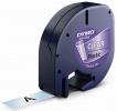 Schriftbandkassetten Kunststoff laminiert - 12 mm x 4 m, schwarz auf transparent
