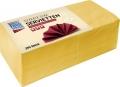 Lunchservietten - 33 x 33 cm, gelb, 250 Stück