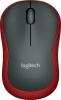 Maus M185 Wireless Optisch schwarz/rot