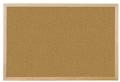 Korkpinntafel - 40 x 30 cm, braun mit Holzrahmen