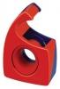 Handabroller Easy Cut, leer für Rollen bis 19 mm x 10 m rot/blau