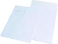 Faltentaschen C4  mit Fenster weiß, 20 mm-Falte, 100 Stück