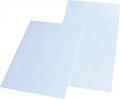 Faltentaschen C4 ohne Fenster, mit 40 mm-Falte 140 g/qm weiß haftklebend
