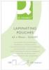 Folientaschen für Laminatoren 65x95mm