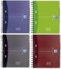 Office-EUROPEAN BOOK extra stabiler Karton-Deckel, 2-fach gelocht, 3 versetzbare Register A5+ kariert, 5 mm 100 Blatt