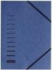 Gummizugmappen blau