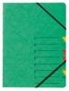 Ordnungsmappen EASY mit 7 Fächern grün