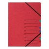 Ordnungsmappen EASY mit 7 Fächern rot