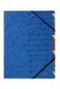 Ordnungsmappen EASY mit 12 Fächern blau