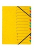 Ordnungsmappen EASY mit 12 Fächern gelb