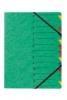 Ordnungsmappen EASY mit 12 Fächern grün
