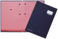 Unterschriftsmappen DE LUXE Leinen-Einband, mit 20 Fächern, rosa Löschkarton bla