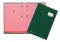 Unterschriftsmappen DE LUXE Leinen-Einband, mit 20 Fächern, rosa Löschkarton grü